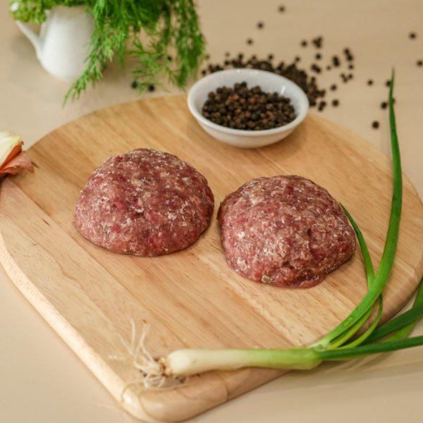 Cutlet thịt lợn và bò đông lạnh