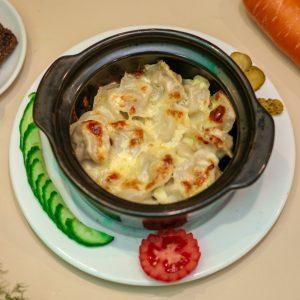 Pelmeni nướng bơ